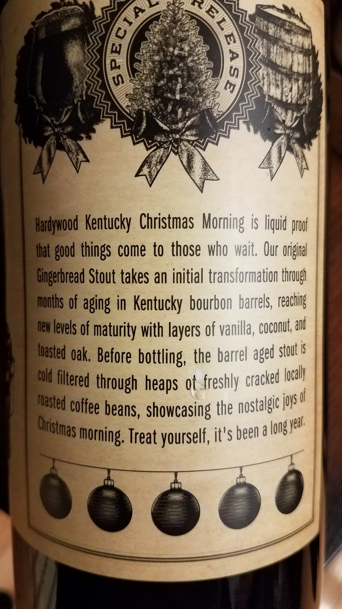 Hardywood Park Kentucky Christmas Morning (2017) / MyBeerCollectibles