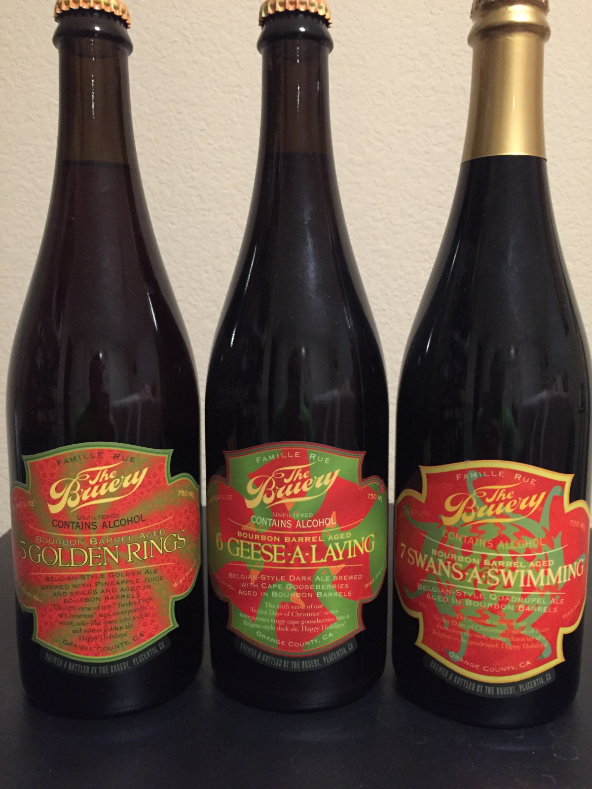 The Bruery Ba 5 Golden Rings Ba 6 Geese A Laying Ba 7 Swans A Swimming Mybeercollectibles