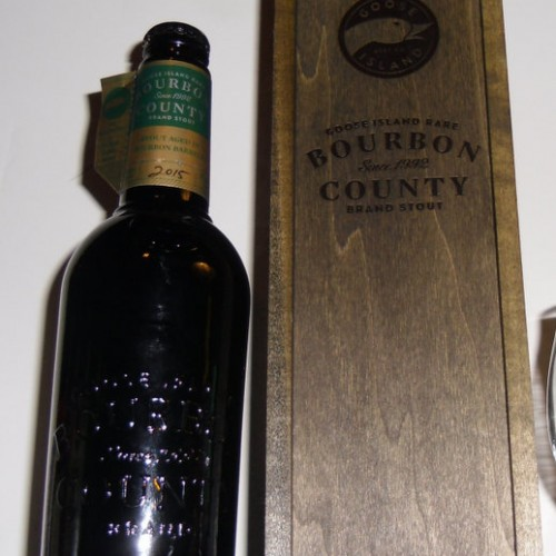 2015 Goose Island Bourbon County Brand Stout Rare Aged in 35 Year Heaven HIll Bourbon Barrels  One (1) 16.9 Oz. unopened bottle with Box