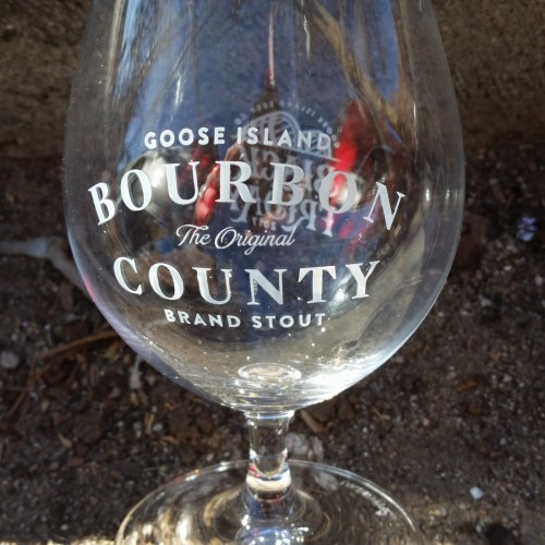 e322dd21bbe Goose Island Bourbon County Brand Stout Snifter Tulip Glass Black Friday  2017   MyBeerCollectibles