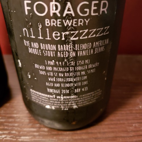 Forager Brewing Co.: 2016 Magnus and 2018 Nillerzzzzz #1