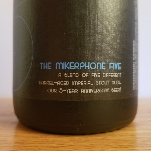 The Mikerphone 5 Five Year Anniversary Beer