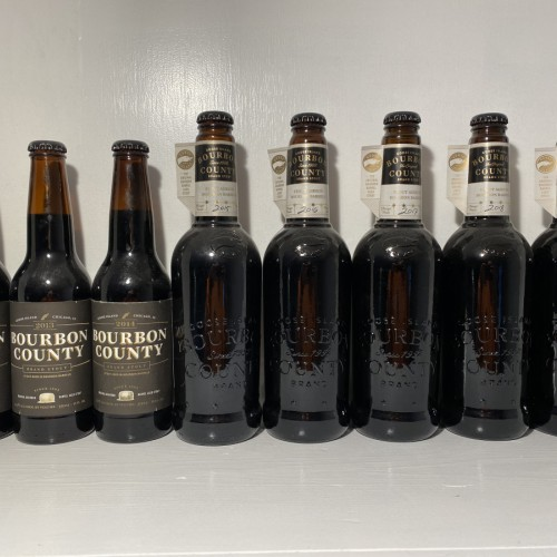 2012-2019 Bourbon County Brand Stout vertical