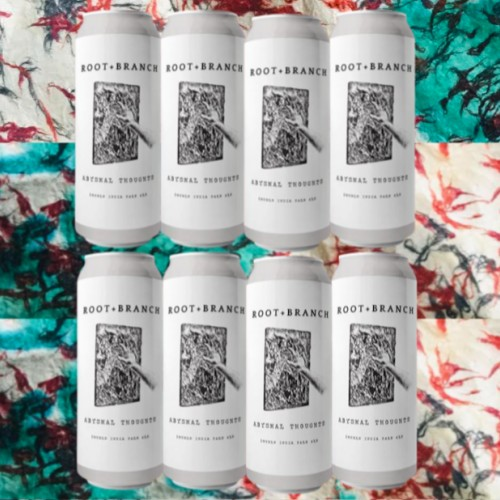 8 Pack Root + Branch Abysmal Thoughts Brand new DIPA - $20 off if ordering 4 other cans