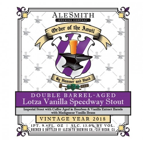 ALESMITH DOUBLE BARREL AGED LOTZA VANILLA SPEEDWAY STOUT - FIRST EVER RELEASE