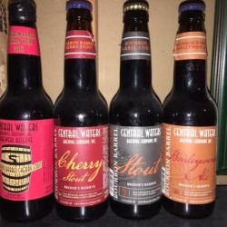 Central Waters 4 Bottle Brewers Reserve Pack- BA Cherry Stout x2, BA Stout, and BA Barleywine