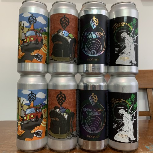MONKISH & ELECTRIC / MIXED 8 PACK! [8 cans total]