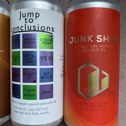 Narrow Gauge, Aslin, and Side Project Mix 4 Pack Hazy IPAs - Silk Robes and Kimonos, Scheduling Error, Jump to Conclusions, Junk Shop