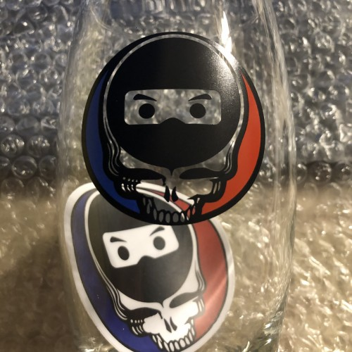 BLACK NINJA DESIGN GREATFUL DEAD GLASS