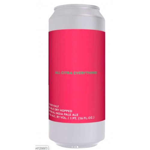 Other Half DDH All Citra Everything Imperial IPA Four Pack from 9/7 Release
