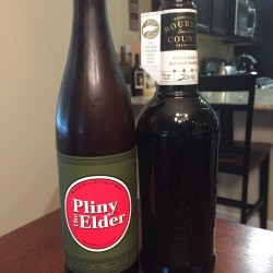 Pliny the Elder and Bourbon County Brand Stout 2016