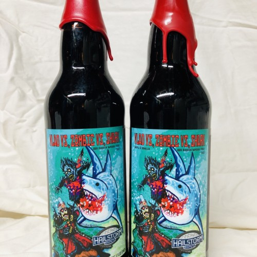 Hailstorm Vlad vs Zombie vs Shark Imperial Stout + Vlad vs Zombie vs Shark Maple and Vanilla Variant